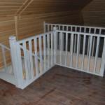 Лестница дуб белёный патина (3)